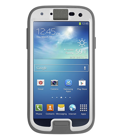 how to put the samsung tanlet into the otter box