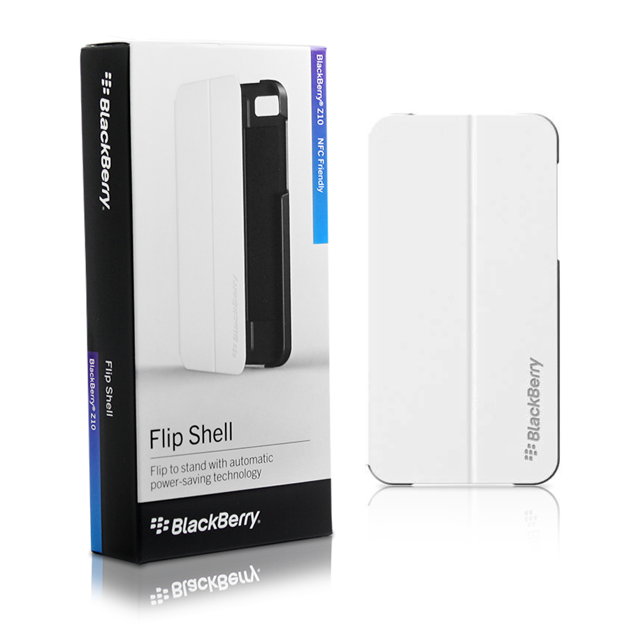 Blackberry Z10 Flip Shell Case Cover ACC-49284-202 | White