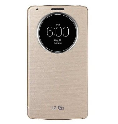 promo code d09ad fac23 LG G3 Quick Circle Case Case | Gold