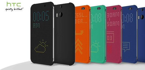 htc one dot view case